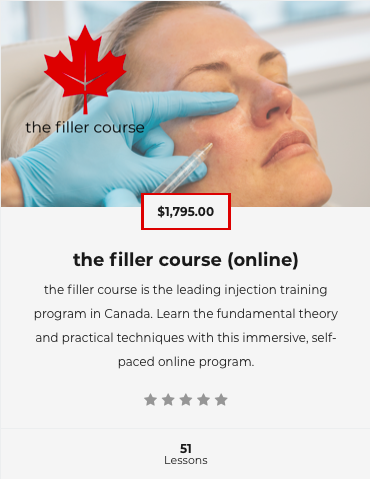 the filler course online course